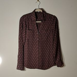 Express Collared Patterned Blouse